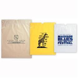 Poly Draw-Tape Custom Plastic Bags 9 1/2 x 12 x 3