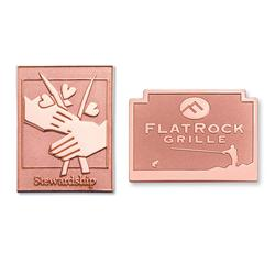 Sandblast Copper Lapel Pins 1""
