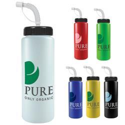 32 oz. Sport Bottle w/Straw - BPA-free