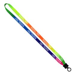 "1/2"" Tie-Dye Multicolor Lanyards"