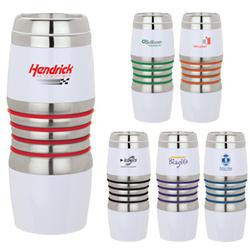 Virone 16 oz. Personalized Travel Mugs with Stainless Liner