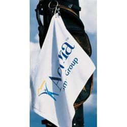"""White Signature Turkish Heavyweight Custom Golf Towel 12"""" x 17"""""""