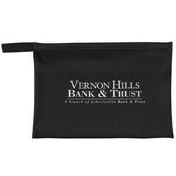 Zippered Custom Portfolio Document Bag in Imitation Leather