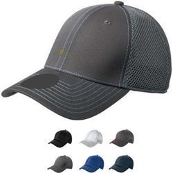 Stretch Mesh Contrast Stitch Hat