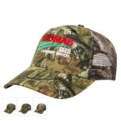 All Over Camo with Mesh Back Cap and custom embroidery imprint