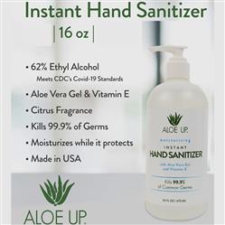 Aloe Up 16 oz Hand Sanitizer Pumps in Bulk