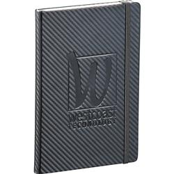Ambassador Carbon Fiber Journal Book and Notebook with your custom logo debossed