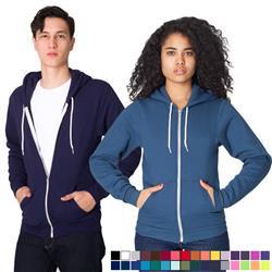 American Apparel Flex Fleece Zip Hoodie with custom logo