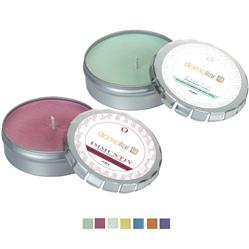 Aromatherapy Soy Candle in Large Push Tin with full color custom label