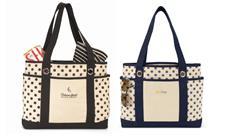 Audrey Fashion Tote Bags, Custom Cotton Canvas Totes