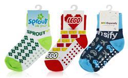 custom logo full color baby socks