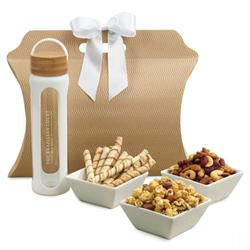 Bali Retreat & Relax Treats Tote with Bottle and Gift Baske Foods