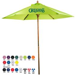 7′ Bamboo Market Umbrella Custom Printed