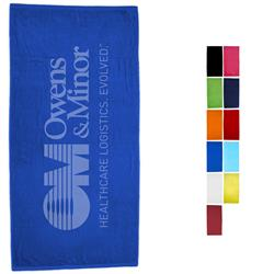 "Signature Basic Weight 30"" x 60"" Colored Beach Towels 10.5 lbs/d"
