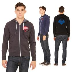 Bella+Canvas® Unisex Sponge Fleece Full-Zip Hoodie embroidered with your Logo
