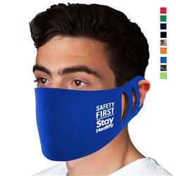 Stretchable Polyester Face Masks with Foam Lining and Custom Logo - Made in USA