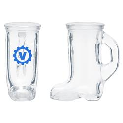 Boot Shaped Shot Glasses with a custom imprint