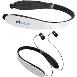Brandz Bluetooth Headsets and Earbuds with your custom logo imprinted, around the neck design