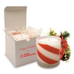 Candy Cane Soy Candles Scented.  Holiday Custom Candles.