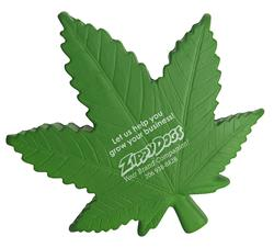 Cannabis Shaped Stress Reliever with Marijuana Leaf Shape