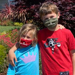 Childrens Custom Printed Cotton Face Masks Made in USA