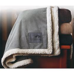 Corduroy Lambswool Throw Blanket