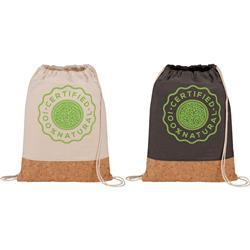 Cork and Cotton Drawstring Bag