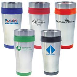 Cornado Stainless Steel Tumbler, 16 oz Travel Mug with Plastic Liner