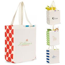 Chelsea Cotton Shopper Tote Bag with custom logo