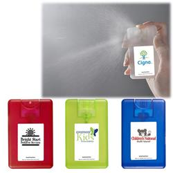 Credit Card Sanitizer Spray - 0.67 oz. Clear-Frosted