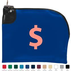 Curved Night Deposit Bank Bag with Lock - a great deposit bag for bank customers