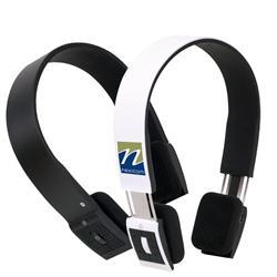 Custom wireless bluetooth logo headphones by Adco Marketing
