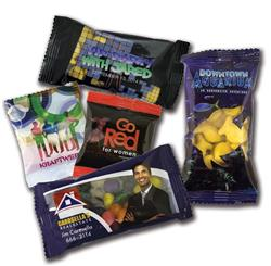 Candy Promo Packs (Small) with a custom label