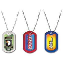 Custom Dome 4 Color or Full Color Dog Tags