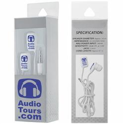 Custom box and earbuds with custom logo