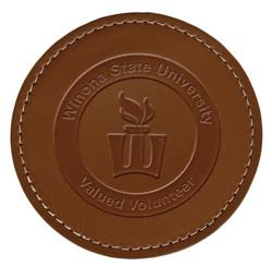 Round Thick Leather Coaster