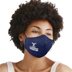 All in One Adjustable 3-Ply Cotton Fitted Face Mask with Adjustable Ear Loops, Nose Bridge and Filter Pocket - Filter Included