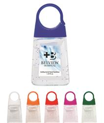 1.35 Oz. Hand Sanitizer With Color Moisture Beads and Custom Imprint