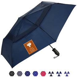Windjammer ShedRain Auto Open and Close Umbrellas with custom logo.  Promotional compact umbrella.