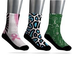 Custom Socks Dye Sublimated with Your Custom Logo