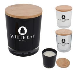 Custom Soy Candles with a Bamboo Lid