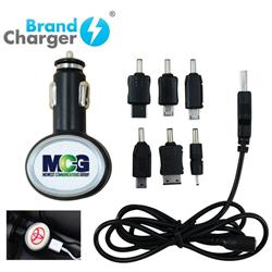 Car Charger with Dual USB Output and 6 Outlet Cord