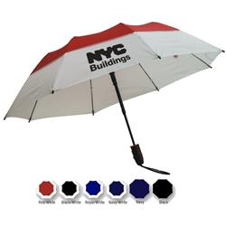 Defender Vented Fiberglass Umbrella with promotional custom logo
