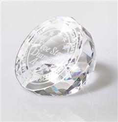 Engraved Diamond Award and Paperweight