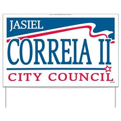 Double Sided Union Made Political Yard Signs in Bulk with Easy Install Frame