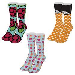 Custom Socks Dye Sublimated with Your Custom Logo 17 inch