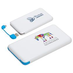 Econo Cable 8000mAh Power Bank customized with your logo by Adco Marketing