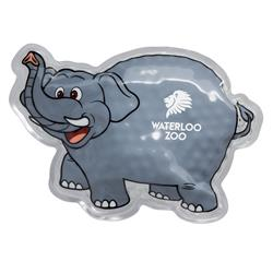 Gray Elephant Hot/Cold Aqua Beads Ice Pack customized with your logo
