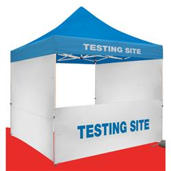 Tent Half Wall Kit Blank or Full Color Imprint