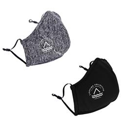 Athleisure Face Mask with Nose Clip, Filter Pocket and Adjustable Ear Loops